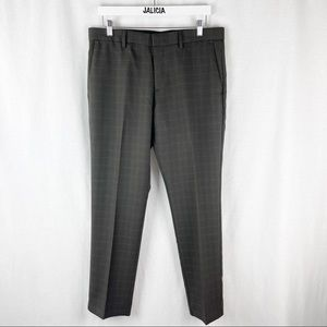 Perry Ellis Brown Men's Slim Fit Dress Pants